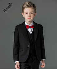 Boys 3pcs Suits Flower Boys Wedding Tuxedo 3 Piece Suits Page Boy Party Formal Custom boys suits 2 piece waistcoat suit wedding page boy baby formal party 3 colours
