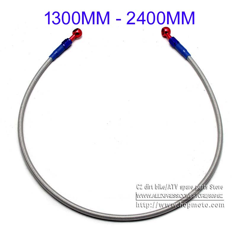 1050mm 1M3 1M5 1M8 2000MM 2300MM Motorcycle M10 Hydraulic Reinforced Brake Or Clutch Oil Hose Line Pipe Fit ATV Dirt Pit Bike motorcycle 500mm 2000mm braided steel hydraulic reinforced brake clutch radiator oil cooler hose line pipe tube 28 degree banjo