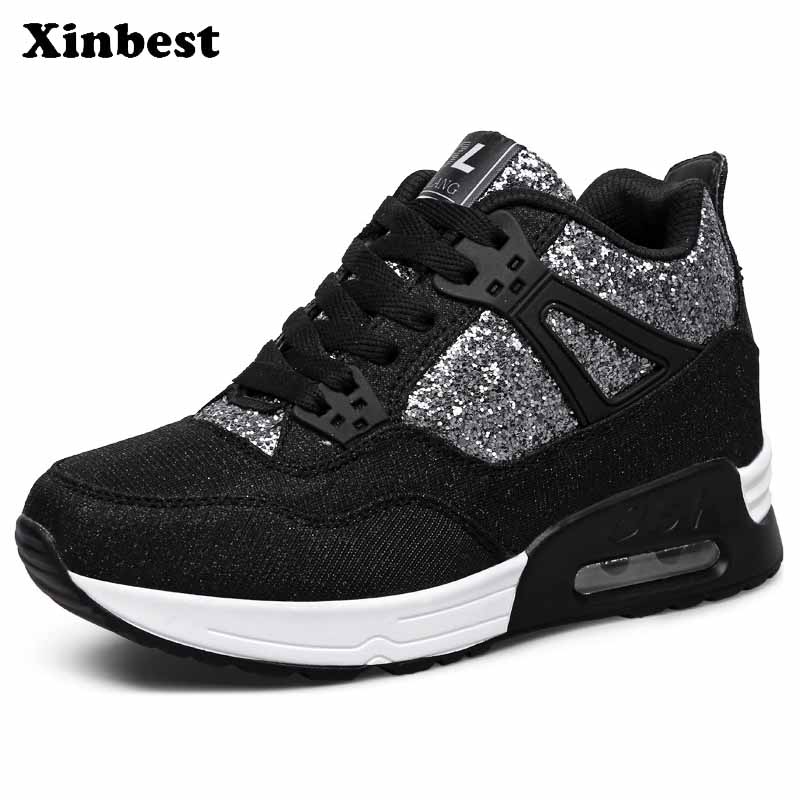 Xinbest Brand Women Running Shoes Outdoor Jogging Super Light Breathable Sport Shoes For Women Fly line Fabric Running Shoes