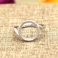 925 Sterling Silver 11mmm Round Cabochon Semi Mount Engagement Wedding Ring
