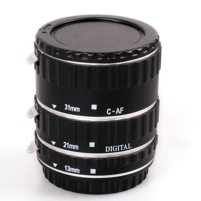 메탈 마운트 자동 초점 AF 매크로 확장 튜브 링 EOS EF-S 렌즈 용 760D 750D 700D 5D Mark II / III / IV 7D 렌즈 어댑터 S