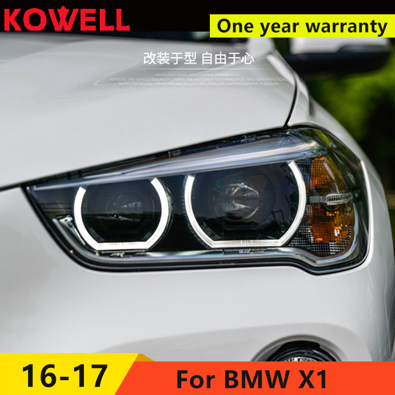 KOWELL Car Styling LED Head Lamp for BMW X1 headlights 2016 for X1 LED angle eyes