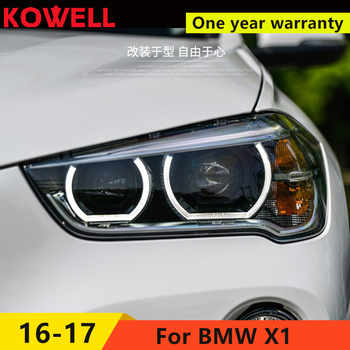 KOWELL Car Styling LED Head Lamp for BMW X1 headlights 2016 for X1 LED angle eyes drl H7 hid Bi-Xenon Lens low beam - DISCOUNT ITEM  20% OFF All Category