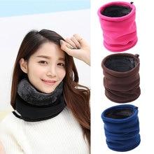 Двухслойный шарф, гетры для шеи, теплые трубки для мужчин и женщин, Флисовая Балаклава, тепловая, теплая, для кемпинга, туризма, термо, регулируемый головной шарф