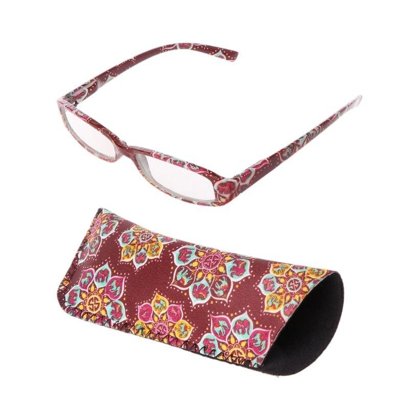 Vintage Women Unisex Reading Glasses Eyeglasses Presbyopia Readers Rectangular Frame Clear Lens +1.0 To +4.0