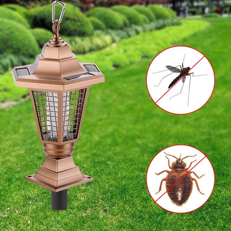 Solar Powered UV Anti Mosquito Bug Zapper Killer Lamp