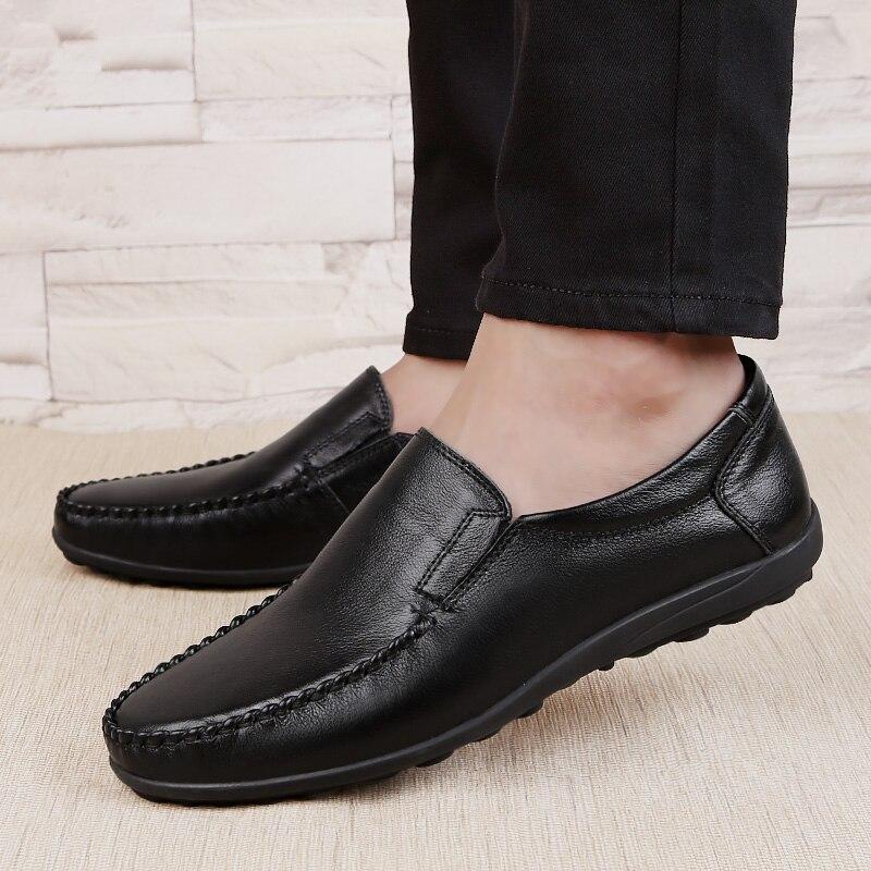 Grande taille 46 hommes chaussures en cuir véritable loisirs de plein air hommes conduite printemps automne automne pieuvre chaussures zapato de cuero hombre p4