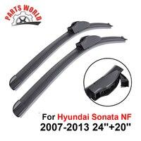 Wiper Blades For Hyundai Sonata NF 2007 2013 24 20 Windscreen Car Accessories Rubber Clean Front