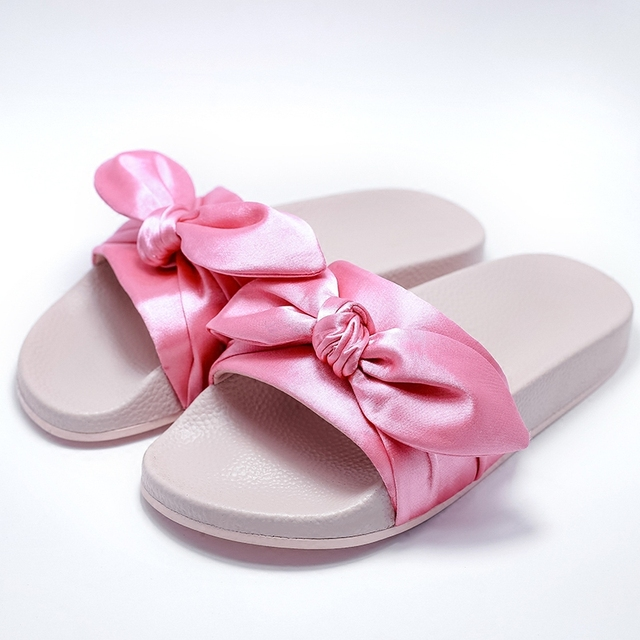 d73ed68438cb Summer Brand Superstar LiuWen Pink Gold Sandals Women Creepers Cute Bow Flip  Flops Slippers Flat Shoes Beach Sandals Slides