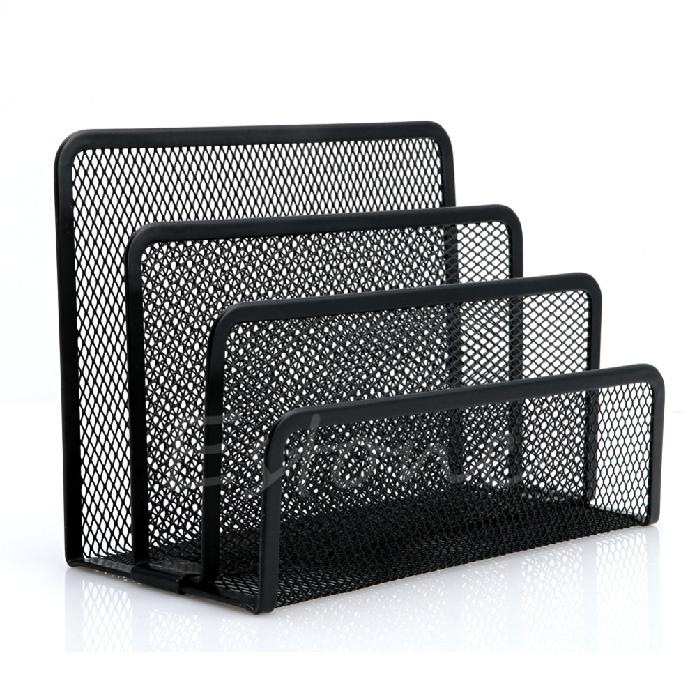 1 PC Mesh Letter Sorter Mail Document Tray Desk Office File Holder Organiser Business 2018 New Black Metal1 PC Mesh Letter Sorter Mail Document Tray Desk Office File Holder Organiser Business 2018 New Black Metal