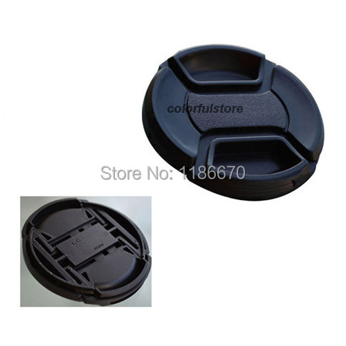 New 46 46mm Center Pinch Snap-On Front Lens Cap Cover For Canon Nikon Sony Fuji Samsung Panasonic DSLR Lens Hood Filter Adapter