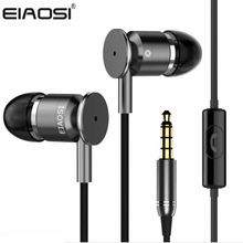 EIAOSI X6 Stereo In-ear Metal Earphone For Phone With Microphone Good Bass For iPhone Samsung Xiaomi phone