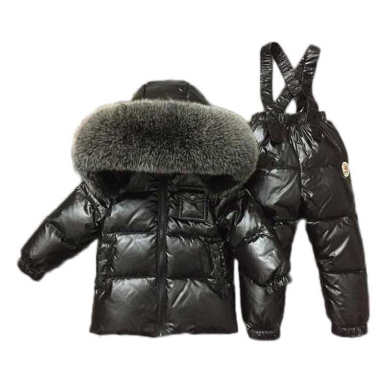 94ed66251 2018 new boys girls ski suit snow Bib pants+jacket a Set of Winter ...
