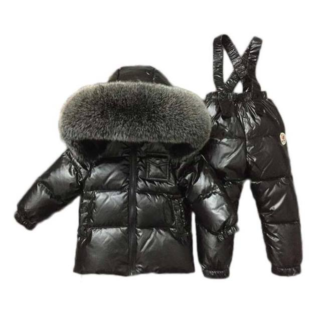 b0ada23f1815 2018 new boys girls ski suit snow Bib pants+jacket a Set of Winter ...