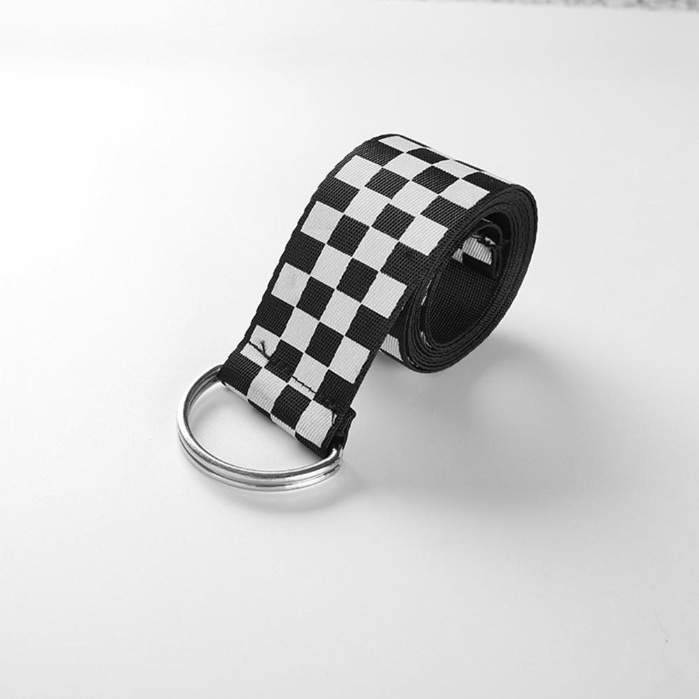 Рапкоптер женские шахматные пояса холщовые поясные ремни повседневные клетчатые пояс 135 см Черный Белый Клетчатый Ремень
