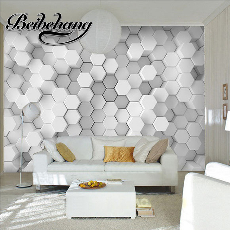 beibehang Beibehang Custom Photo 3D Wallpaper Geometric Stereo Sofa Table Living Room TV Background Wall 3D Just Just Fashion beibehang custom 3d personality summer
