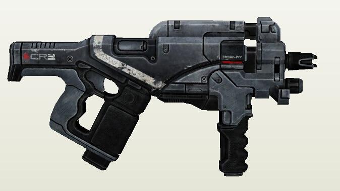 Mass Effect 3 M 12 Locust Assault Rifle 1 1 Scale 3D Paper Model Handmade DIY
