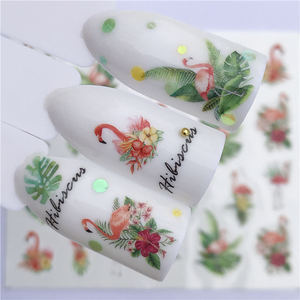 Image 3 - 1 PC Nail Sticker Wolf Deer Flower Water Transfer Decal Sliders for Nail Art Decoration Tattoo Manicure Wraps Tools Tip