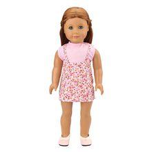 цена Fashion Handmade Baby Dolls Accessories Dress Kids Toys For Girl Our Generation Doll Clothes For America Girl Dolls DIY Present онлайн в 2017 году