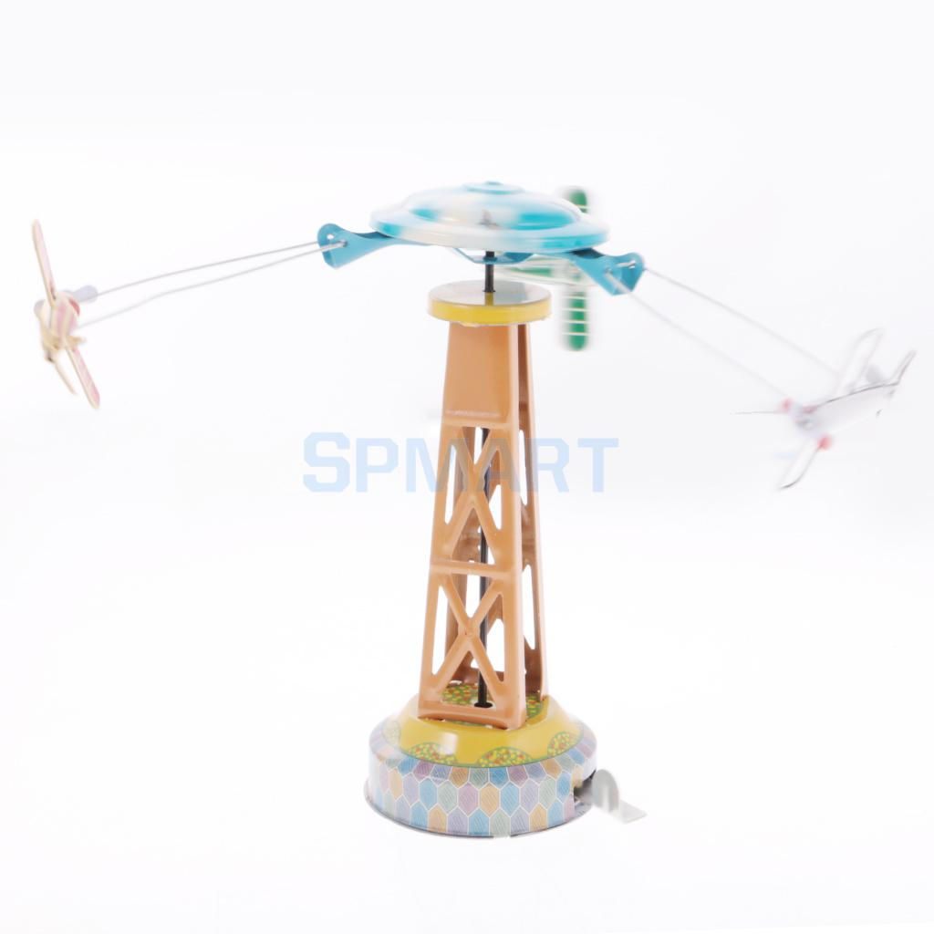 Vintage Wind-up Spining Ferris Wheel Classic Clockwork Tin Toy Cadeau pour
