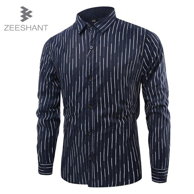 Zeeshant mew chemise homme camisa masculina calidad de la marca de moda de rayas camisa de manga larga camisa de vestir de los hombres's camisas de esmoquin