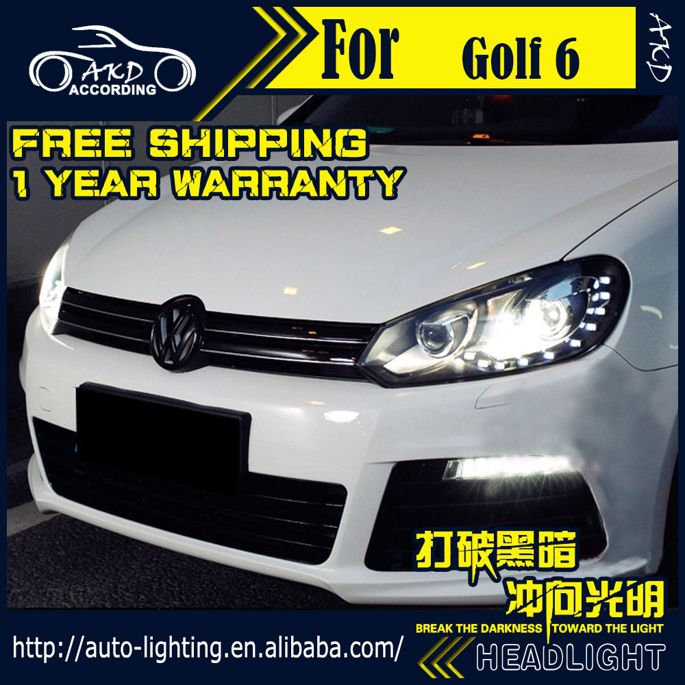 akd car styling headlight assembly for vw golf 6 headlights bi xenon led headlight golf6 r20 led. Black Bedroom Furniture Sets. Home Design Ideas