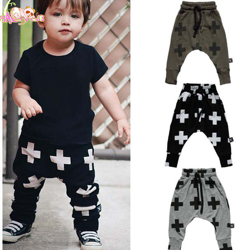 Φ_ΦUnisex Pantalones para niños nununu Cruz patrón Pantalones ropa ...
