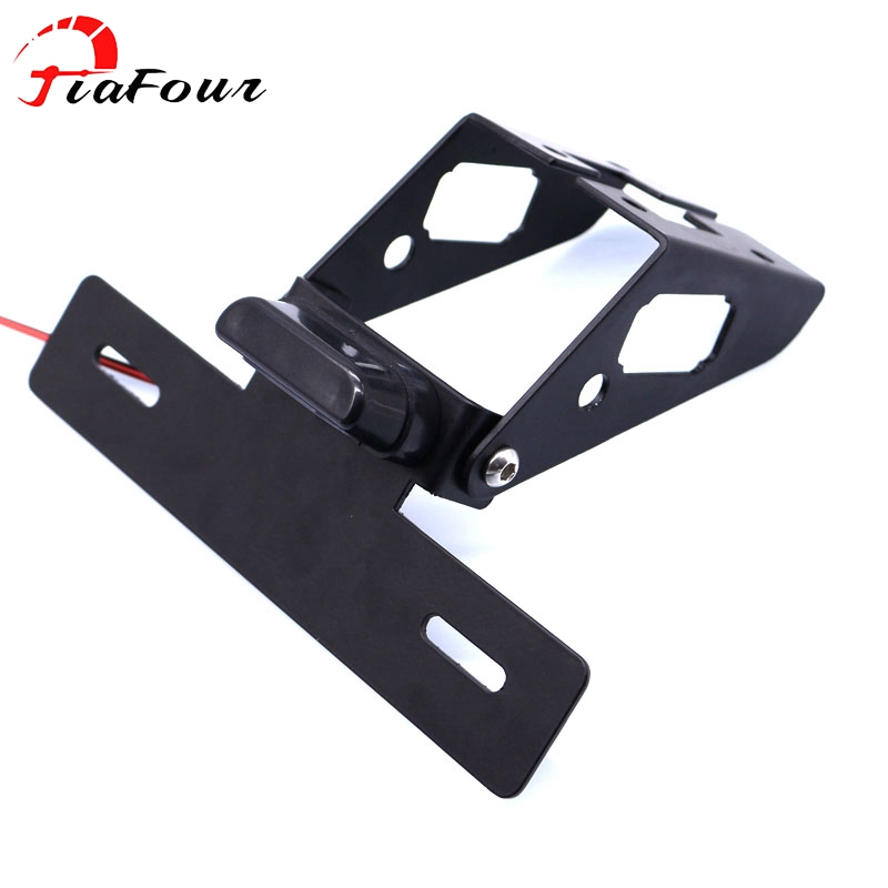 bracket license plate holder For KAWASAKI Ninja 400 Ninja400 2018 motorcycle adjustable fender eliminator registration plate