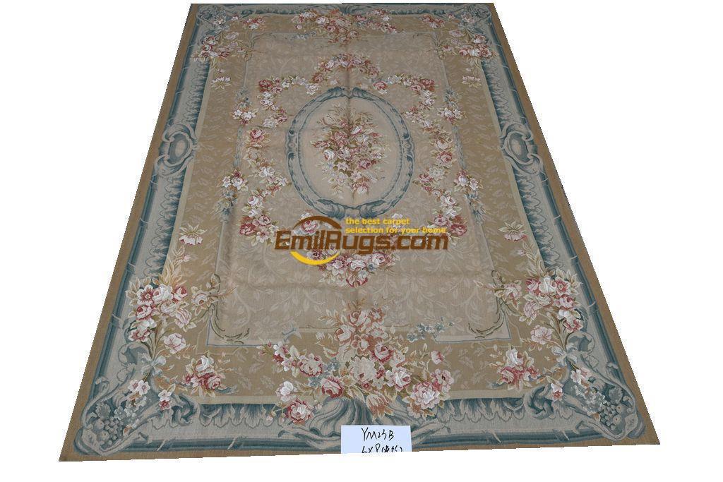 Tapis et tapis tapis de sol vivant tapis aubusson tapis tapis en laine faits main 183 CM X 274 CM (6 'X 9') m YM23Bgc156aubyg6 soie