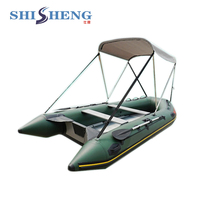 CE certificate Cheap Inflatable boats with canopy for sale/marine boat yacht