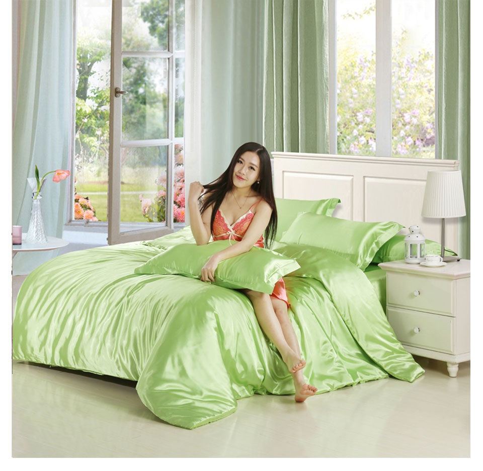 Aliexpress.com : Buy Home Textile Silk Satin Bedding Sets