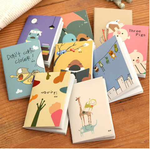 2015 1Pcs Top Selling School Planner Magista Wholesales Free Shipping 5.7*7.8cm Lovely Cartoon Image 9 Types Notebook K6732