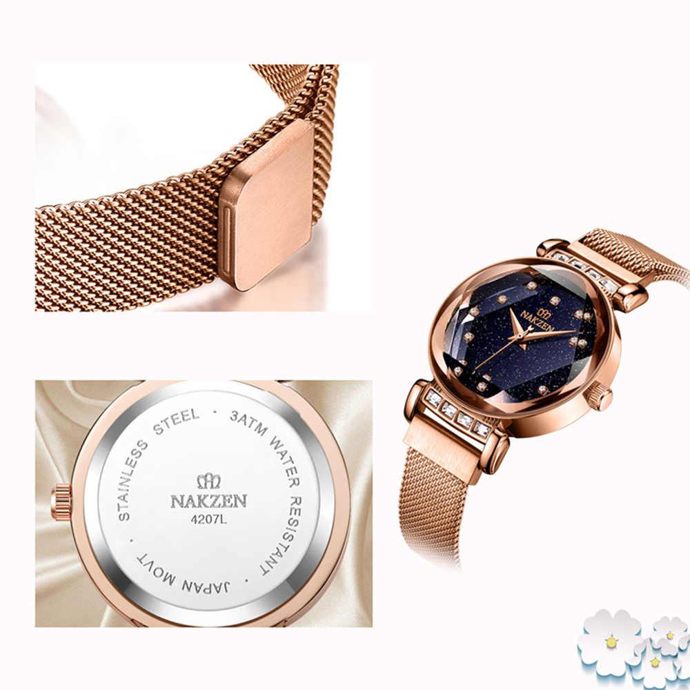 1e6e45327ca9 ... NAKZEN Women Diamond Elegant Starry Sky Watches Ladies Creative Roman  Fashion Waterproof Quartz Watch Clock relogio ...