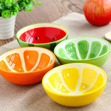 Kreative Schüssel Schöne Hand Gemalt Obst Schüssel Für Kinder Wassermelone Keramikschale Cartoon Geschirr Besteck 4 Arten Optional