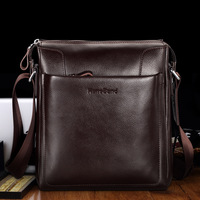 HANSBAND Genuine Leather Men Bag Men Briefcases Male Leather Business Computer Laptop Bags Crossbody Bags Mens