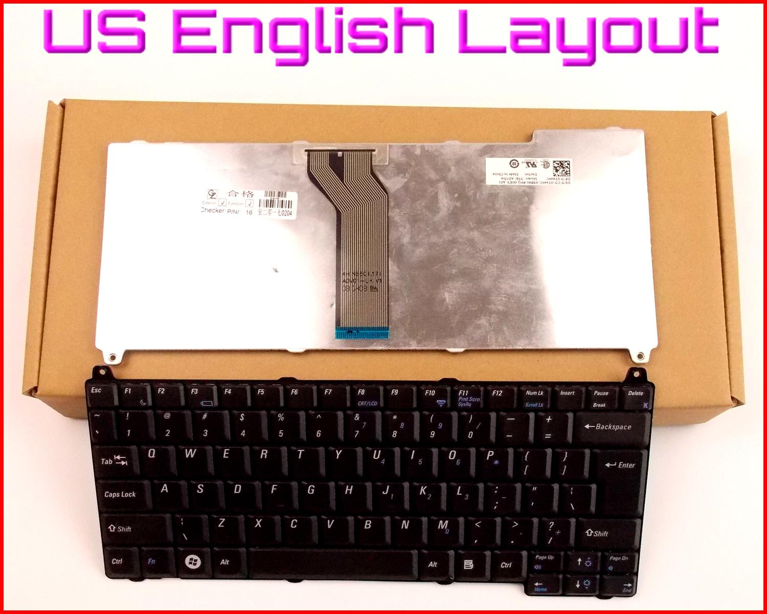 New Keyboard US English Version For Dell Vostro 1310 2510 1510 1320 1520 PK1303Q0100PP36L 0J483C Laptop