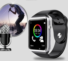 watch men women WristWatch Bluetooth Smart Watch Sport Pedometer With SIM Card smart watch android oppo R9 f1 find 7 find5