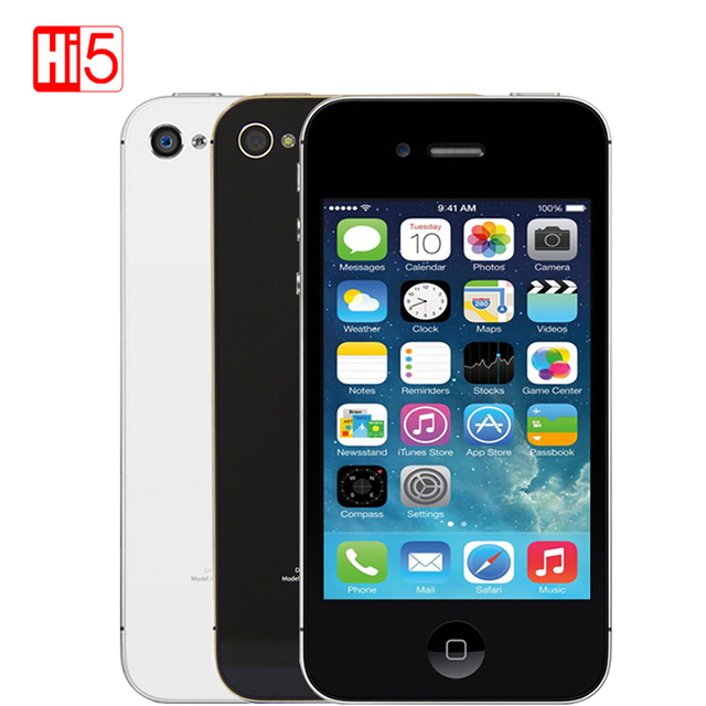 "Unlocked Apple iPhone 4S 8G Touchscreen WIFI WCDMA GPS 8MP 1080P IOS bluetooth WCDMA used Mobile Phone smartphone 1080P 3.5"""
