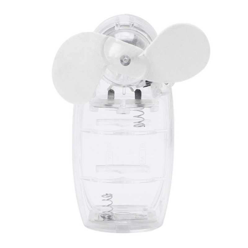 Mini ventilador portátil de bolsillo de aire fresco de mano de la batería de viaje vacaciones ventilador enfriador