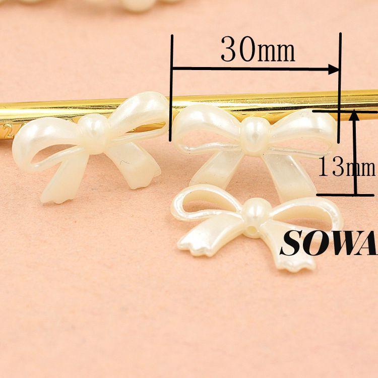 Дизайн цвета слоновой кости размер 30*13 мм 50 шт./лот смола ABS имитация жемчуга эффект 3D Кленовый лист предназначен для изготовления ювелирных изделий DIY