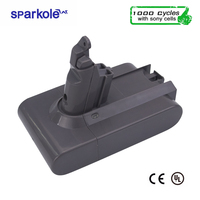 Sparkole 21.6V 3000mAh Li ion Battery for Dyson V6 DC58 DC59 DC61 DC62 Animal DC72 DC74 with Imported VTC6 Cell real capacity
