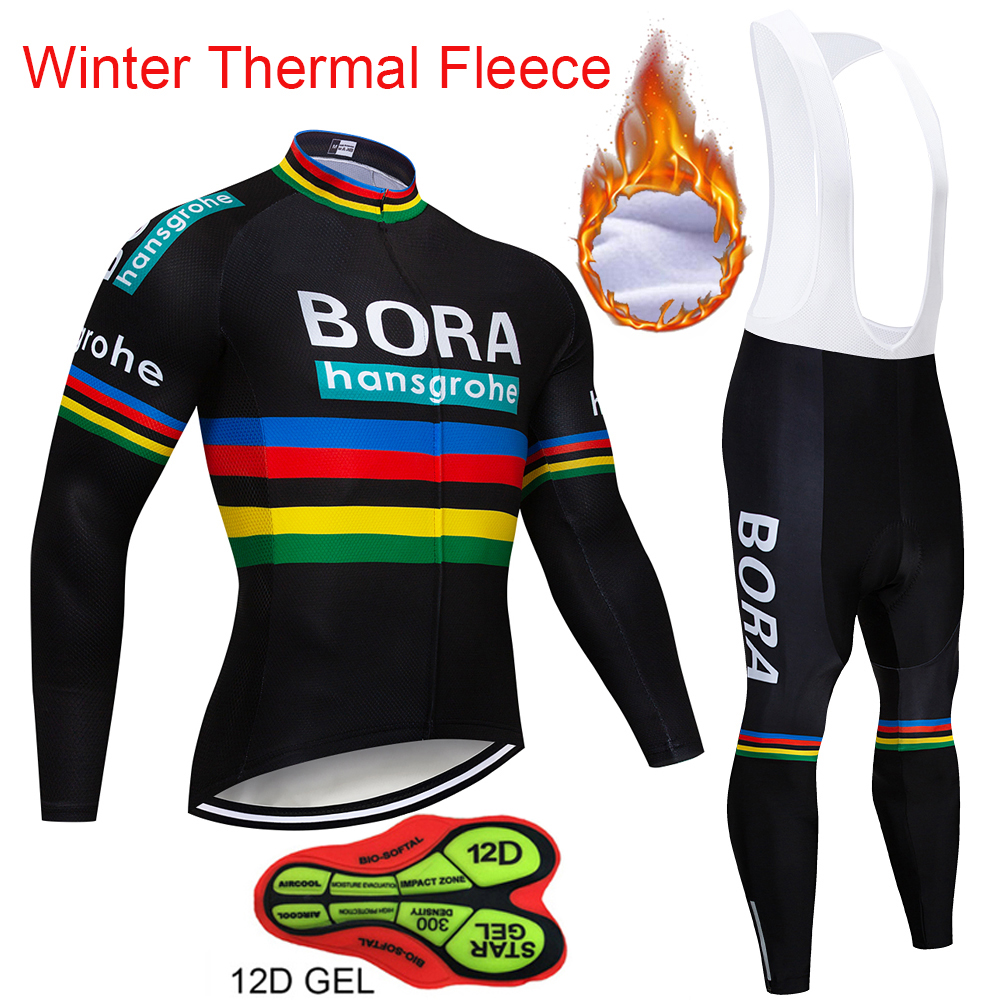 Team Pro Bora Winter Long Sleeve Warm Cycling Jersey MTB Bike Clothes Cycling Clothing Bicycle Sportwear Maillot Ropa Ciclism