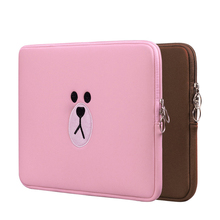2019 Brown Bear Cartoon Bag11 13 15.6 Inch For Macbook Air Pro 11 15 Laptop Bag Tablet Case Computer Sleeve Pocket