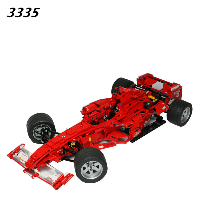 AIBOULLY  3335 Technic F1 Racer building bricks blocks Toys for children Game Car Formula 1 Compatible with  AIBOULLY 8674