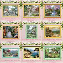 Leisurely cabin house scenery counted 11CT 14CT Cross Stitch Set DIY DMC Cross-stitch Kit Embroidery Needlework Home Decor(China)
