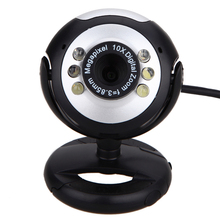0.5MP 6 LED Webcam USB Camera with Mic for PC Laptop Computer High Quality