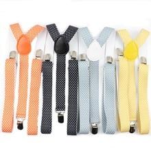 Одноцветный мужской ремень в горошек для мужчин и женщин, подтяжки из полиэстера с y-образной спинкой, регулируемые эластичные подтяжки