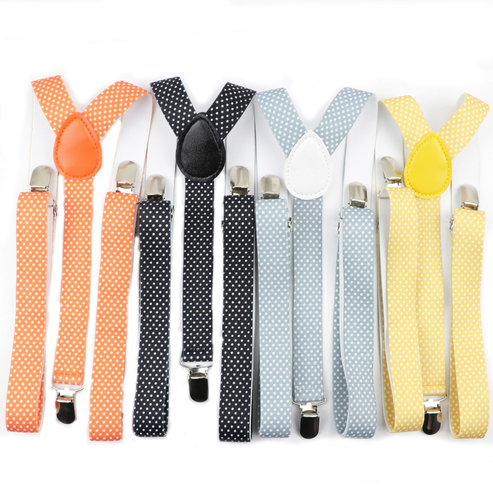 Dot Solid Color Man's Belt Men Women Suspenders Polyester Y-Back Braces Adjustable Elastic