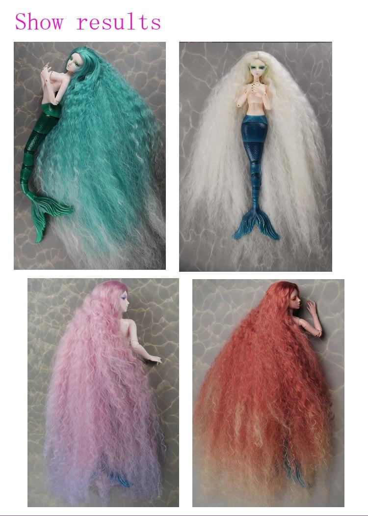 1/3 1/4 1/6 bjd / s doll puffy doll hair for 15cm * 100cm - Қуыршақтар мен керек-жарақтар - фото 5
