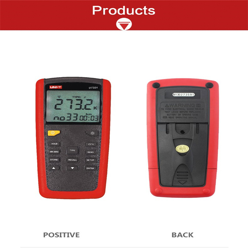 ФОТО UT321 Contact Type thermometers Range -150~1375 USB Interface Industrial Temperature Test Selection